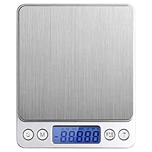 Serpeo Household Electronic and Postal Scale, Stainless Steel Silver Platform and LCD Display,Powered by 2*AAA Batteries