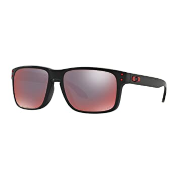 Oakley Negro mate antorcha Iridum polarizadas gafas de sol de HOLBROOK