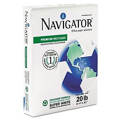 SNANR1120 Premium Recycled Paper, 95 Brightness, 20lb, 8-1/2 x 11, White, 5000/Carton
