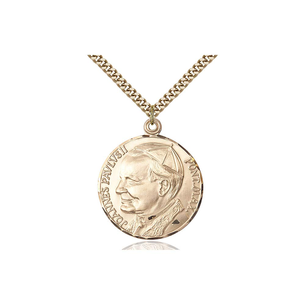 DiamondJewelryNY 14kt Gold Filled St John Paul II Pendant