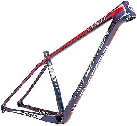 LIDAUTO Cuadro de Bicicleta de montaña Fibra de Carbon para Ruedas ...