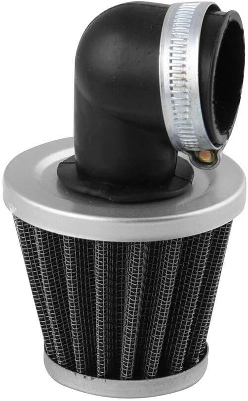 AGiao Air Filter Filtro de Aire 2 Tiempos 90 Grados Curva del Codo de Filtro de 35 mm de Resistencia Cero for la Motocicleta Pocket Bike Moto Plastic Color : Black