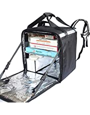"pk-76z: mochila de entrega de pizza, pizza Bolsa de entrega, entrega de comida bolsa con capa de flexible, mantener caliente, 16""L x 15"" W x 18""H"