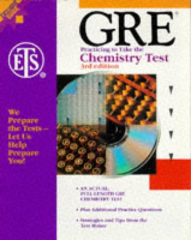 GRE: Practicing to Take the Chemistry Test, 3rd Edition (Gre Chemistry)