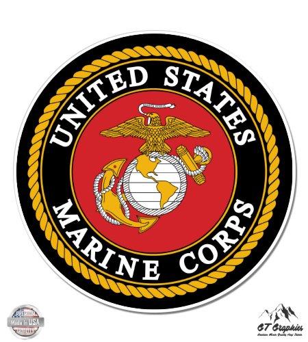 US Marine Corps USMC logo - 12' Vinyl Sticker Waterproof Decal