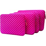 AZ-Cover 14-Inch Simplicity Stylish Diamond Foam Shock-Resistant Neoprene Sleeve (Hot Pink) For Thinkpad SL410 - Intel - Core 2 Duo - T6670