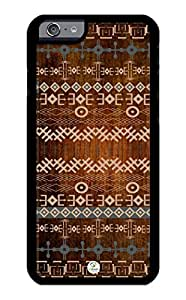 iZERCASE iPhone 6 Case Traditional African Design on Wood Pattern RUBBER CASE - Fits iPhone 6 T-Mobile, Verizon, AT&T, Sprint and International