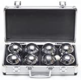 Garden Games Premium 8 Metal Boules Set - in Metal Carry Case