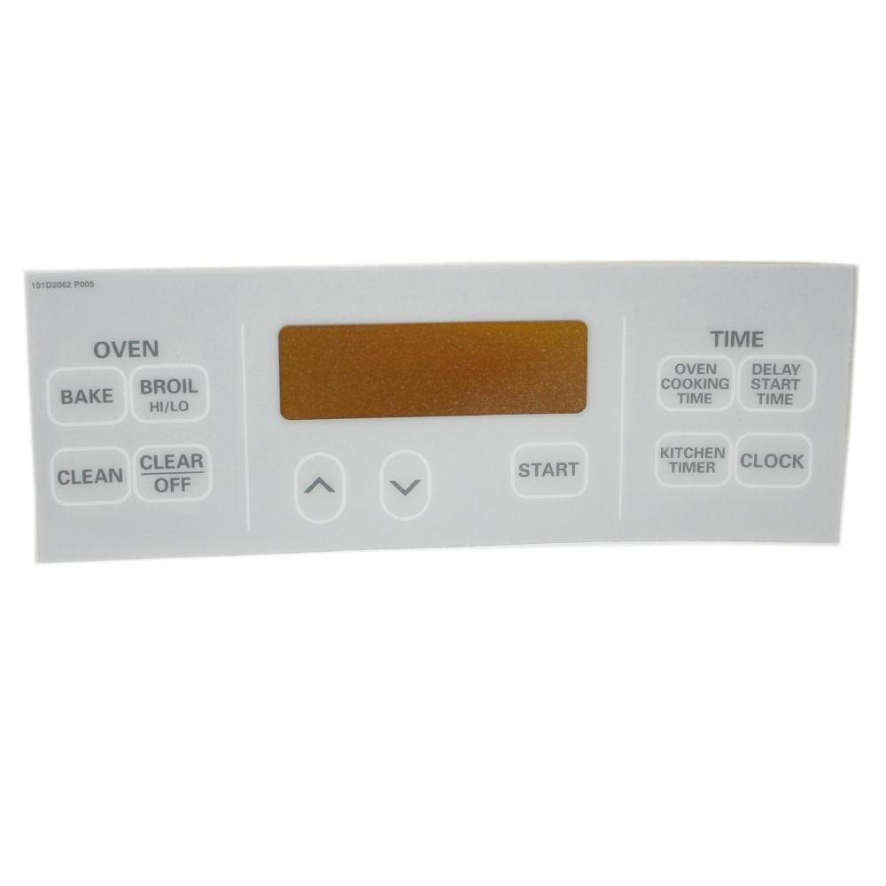 Kenmore WB27T10038 Range Oven Control Overlay (White) Genuine Original Equipment Manufacturer (OEM) Part White