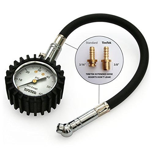 TireTek Flexi-Pro Tire Pressure Gauge, Heavy Duty Best for Car & Motorcycle - 60 PSI - http://coolthings.us