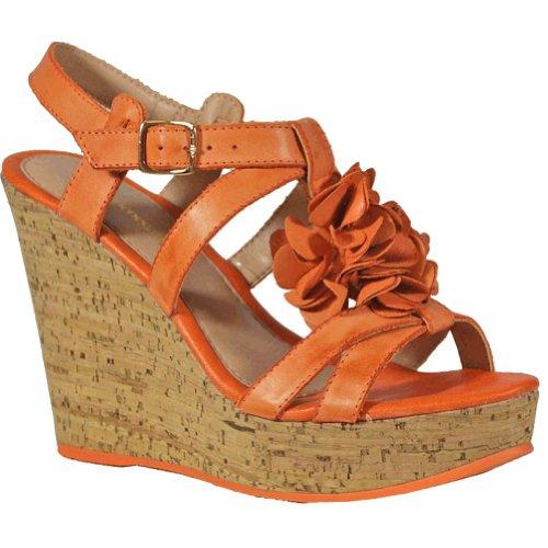 Bruno Menegatti 10255788 Kvinners Skinn Kile Sandal Oransje