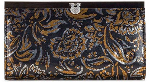 Patricia Nash Cauchy Tri Metallic Leather Clutch Wallet