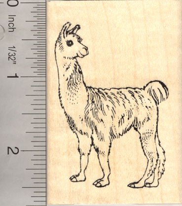 Llama Rubber Stamps