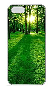 iPhone 5 5S Case Green Forest PC Custom iPhone 5 5S Case Cover Transparent