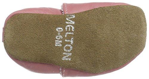 Melton Baby Mädchen Krabbelschuh Herzchen Aus Weichem Leder Krabbel-& Hausschuhe, Mehrfarbig (Dusty Rose), 23/24 EU