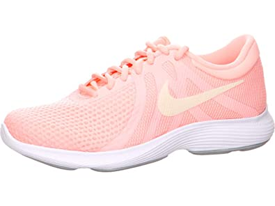 buy popular 4cdc7 a09cd Nike WMNS Revolution 4 EU, Sneakers Basses Femme, Multicolore Tint Guava  Ice