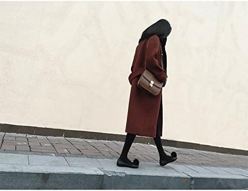SED Cappotto da Donna-Adattare Il Cappotto della Giacca delle Donne di Autunno e Inverno Lungo nel Grande Cappotto Sciolto di Lana Sciolto