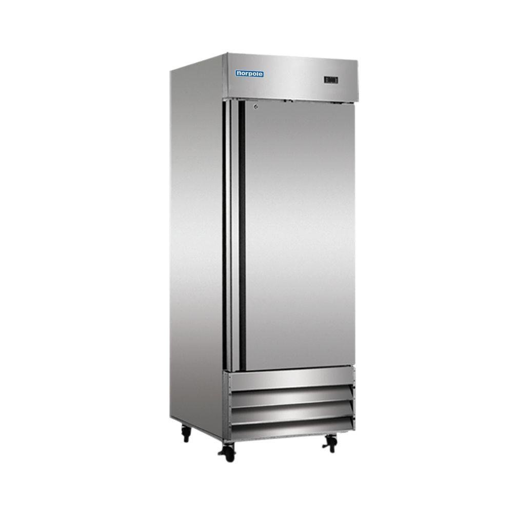 23 cu. ft. Single Door Commercial Reach-In Freezer in Stainless Steel by Norpole