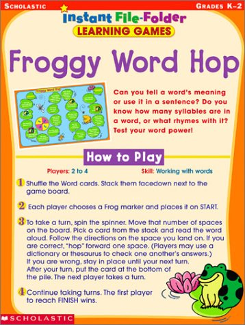 Froggy Word Hop (Instant File-Folder Learning Games)