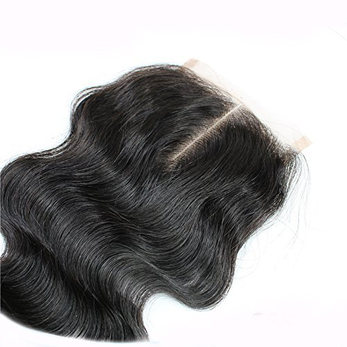 Sunny Middle Part Lace Closure 4*4 inch Unprocessed Brazilian Human Hair Body Wave Lace Top Closure 16inch: Amazon.es: Belleza