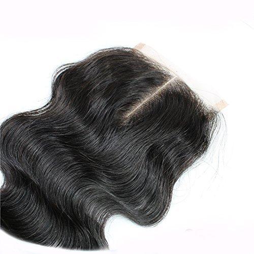 Sunny Middle Part Lace Closure 4*4 inch Unprocessed Brazilian Human Hair Body Wave Lace Top Closure 16inch: Amazon.es: Belleza