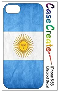 Argentina Flag Decorative Sticker Decal for your iPhone 5 5S Lifeproof Case