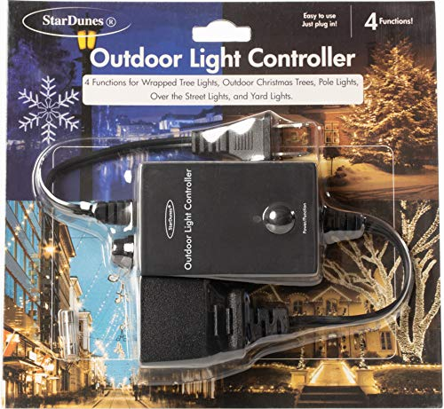StarDunes Outdoor Light Controller for Wrapped Tree Lights, Outdoor Christmas Trees, Pole Lights, Over The Street Lights, Yard Lights (Commercial Grade) (Light Christmas Equipment Show)