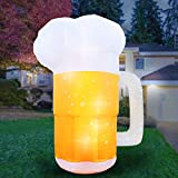 Holidayana 10 Foot Inflatable Saint Patricks Pattys Day Beer Mug Decoration, Includes Built-in Bulbs, Tie-Down Points, and Powerful Built-in Fan