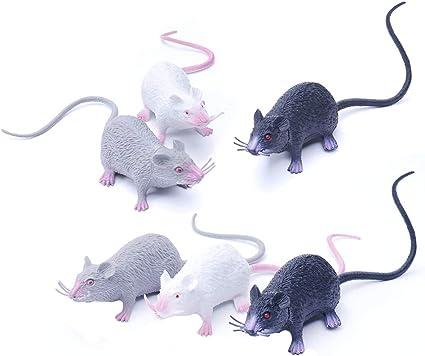 Halloween Plastic Black Rat Prop Decor 9 inches New