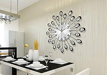 Die Wand Im Wohnzimmer Uhr Stumm Schlafzimmer Moderne Mode Persnlichkeit Quarz