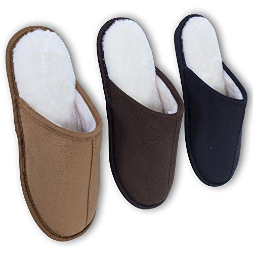 Generic - Zapatillas de estar por casa de poliéster para hombre canela