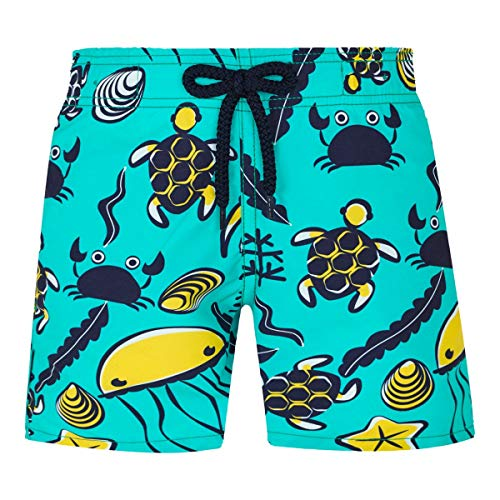 - Vilebrequin Kids Baby Boy's Jim Turtles Beach Swim Trunk (Toddler/Little Kids/Big Kids) Green Veronese 12 Years