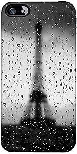 Snoogg Rainy Paris Diseñador Protectora Volver Funda Para El Iphone 4 / 4S
