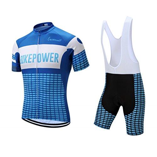 141110f8c Men s Short Sleeves Cycling Jersey Set Bike Jersey Suit Cycling Shirt Bib  Shorts with 3D Gel