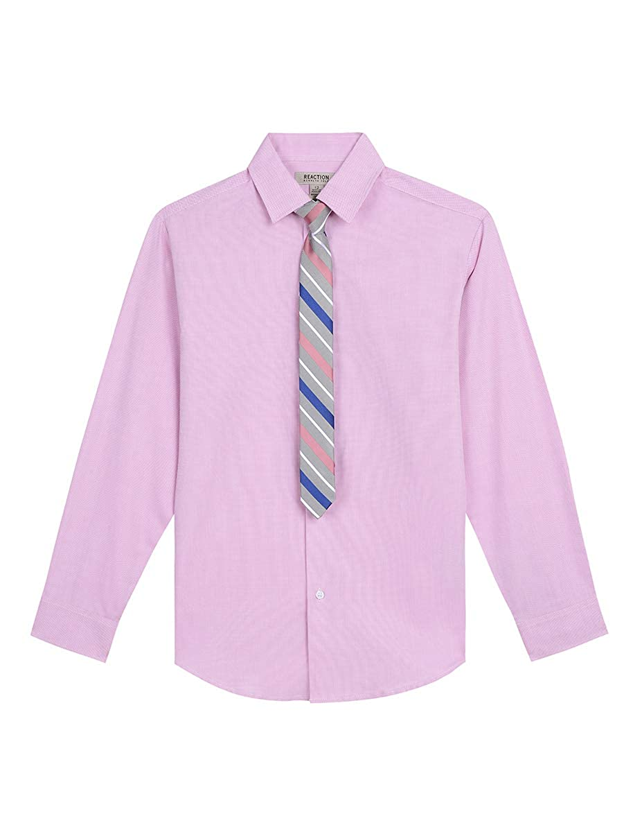 Kenneth Cole Boys Long Sleeve Dress Shirt and Tie Set