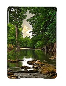Fashionable QeNwCtj1160iTrOH Ipad Air Case Cover For Nature Landscapes Swamp Rivers Water Trees Forest Jungle Reflection Rocks Sky Clouds Leaves Protective Case