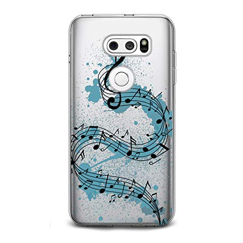 Lex Altern TPU Case for LG G8 Stylo 5 K11 G7 ThinQ G6 V40 V35 V50 K8 Watercolor Melody Design Flexible Music Soft Art Slim fit Print Melody Clear Treble Clef Smooth Gift Staff Lightweight Cover Song]()