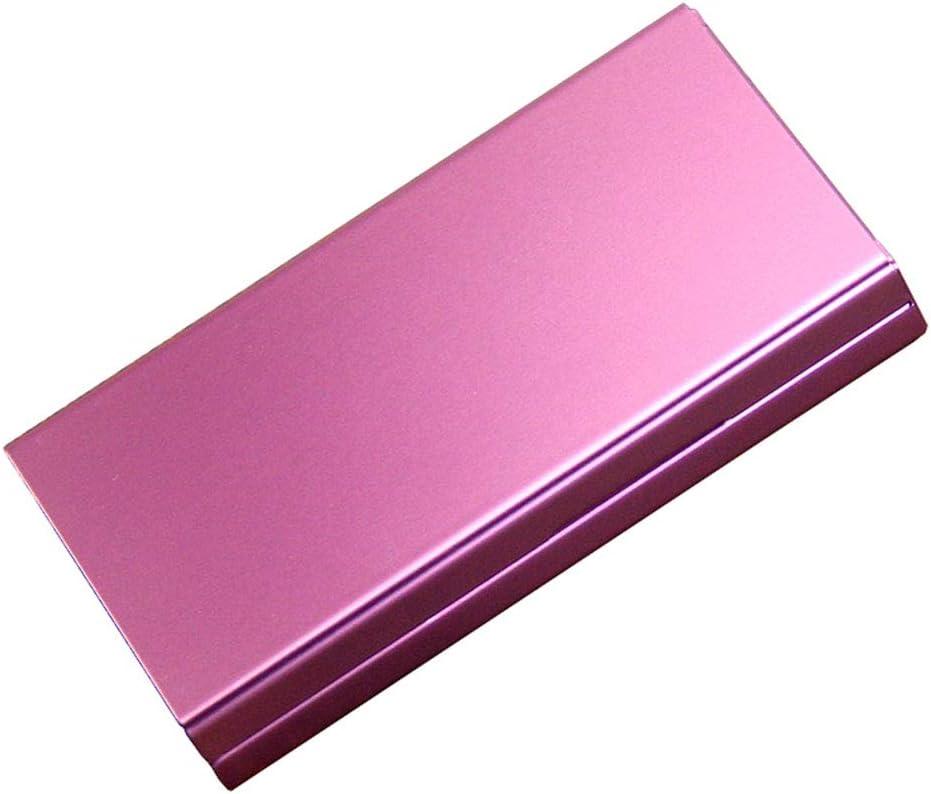 QLIGHA Funda de Cigarrillos para Damas Multicolor Metal Largo Humo Cubierta automática Cajas de Cigarrillos portátiles Ultra Delgadas 20 Palos,Purple