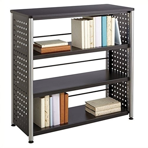Safco Products 1602BL Scoot Bookcase with 3 Shelves, Black Conference Wall Cabinet