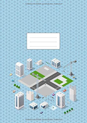 Isometrisch Zeichnen   Isometrieblock   DIN A4  Zeichenbuch Mit Isometrie Papier   100 Seiten   Dreieck 3D Matrix 1 4 Zoll Gleichseitig   Softcover Game Design