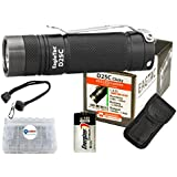 *NEW UPGRADED* Eagletac D25C Clicky CREE XM-L2 U3 LED Flashlight with 1x Energizer CR123A Lithium Batteries and Lightjunction Battery Case