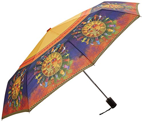 Laurel Burch Compact Umbrella Canopy Auto Open/Close, 42-Inch, Harmony Under The Sun
