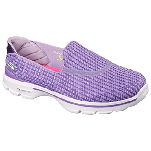 Skechers Go Walk 3, Baskets Basses Femme Rose