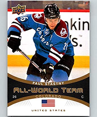 Amazon Com 2010 11 Upper Deck All World Team Aw22 Paul Stastny 07085 Collectibles Fine Art