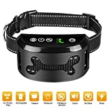 TOP-Max Bark Collar [2018 Smart Chip] Dog Shock Anti-Barking Collar with Beep, Vibration and Harmless Shock - Rechargeable No Bark Control for Small/Medium/Large Dogs with 7 Sensitivity Levels- IPX6 (Black)
