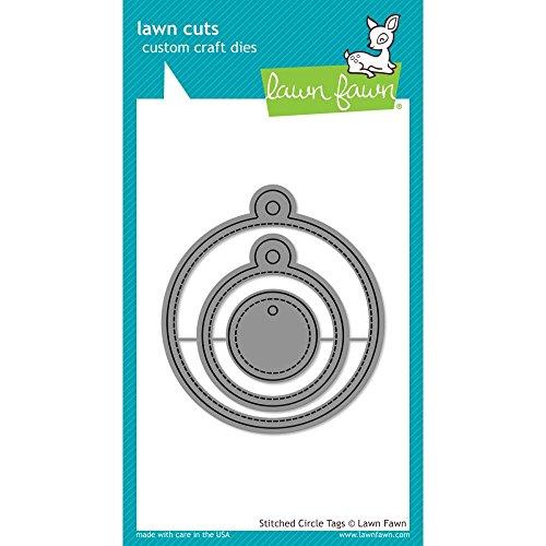 Lawn Cuts Custom Craft Die-stitched Circle Tags