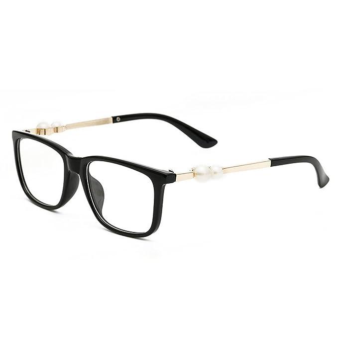 516cc7d033 D.King Women Retro Square Glasses Frame Eyeglasses Fashion Optical Eyewears  Black