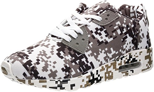 7-PORTANT Men's Knit Upper with 3D Openwork Sneaker Black & White Camo