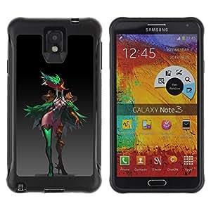 Suave TPU GEL Carcasa Funda Silicona Blando Estuche Caso de protección (para) Samsung Note 3 / CECELL Phone case / / Colorful Monster Beautiful Fairy Forest Art /