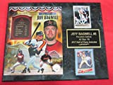 Astros Jeff Bagwell Hall of Fame 2 Card Collector Plaque w/ 8x10 Photo